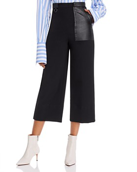 Yigal Azrouel - Cropped High-Waisted Wide-Leg Pants