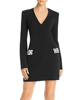 David Koma - Embellished-Pocket Mini Dress