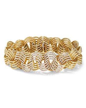 David Yurman - 18K Yellow Gold Origami Micro Cable Bracelet with Diamonds