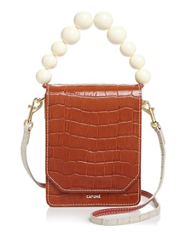 Cafuné - Bellows Croc-Embossed Crossbody