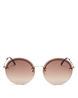 MARC JACOBS - Women's Marc Rimless Round Sunglasses, 60mm