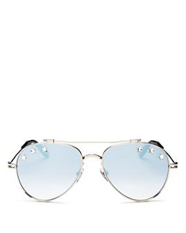 Givenchy - Unisex Stars Brow Bar Aviator Sunglasses, 58mm