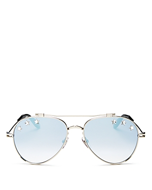 Givenchy Unisex Stars Brow Bar Aviator Sunglasses, 58mm