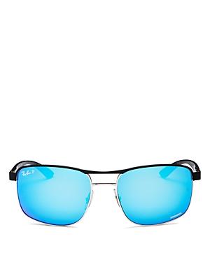 Ray-Ban Men's Chromance Polarized Aviator Sunglasses, 58mm