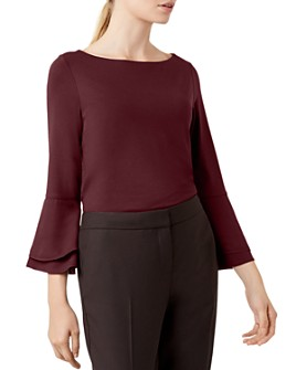 HOBBS LONDON - Thora Bell-Sleeve Top