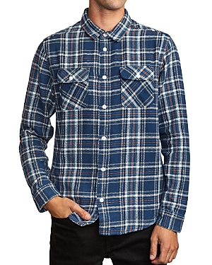 Rvca T-shirts AVETT SLIM FIT FLANNEL SHIRT