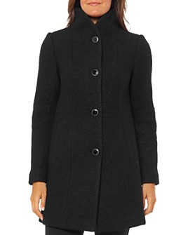 kate spade new york - Stand-Collar Textured Coat