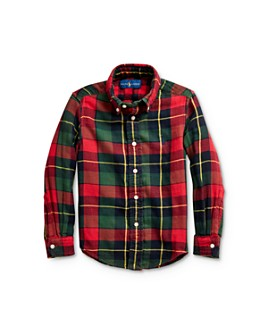 Ralph Lauren - Boys' Plaid Twill Button-Down Shirt - Little Kid