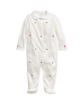 Ralph Lauren - Girls' Embroidered Holly Footie - Baby