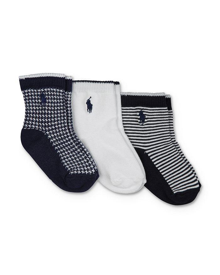 Ralph Lauren - Unisex Crew Socks, 3 Pack - Baby