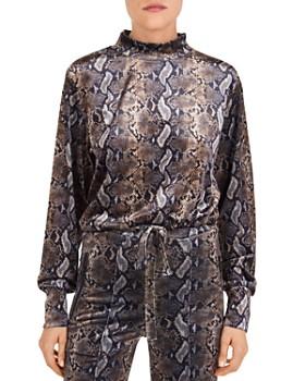 The Kooples - Snakeskin-Print Fleece Sweatshirt