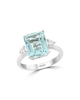 Bloomingdale's - Aquamarine & Diamond Cocktail Ring in 14K White Gold - 100% Exclusive