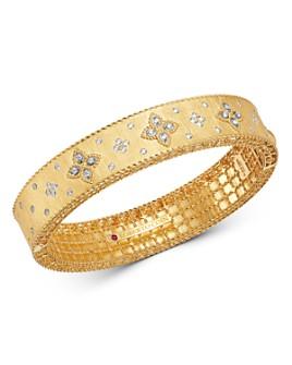 Roberto Coin - 18K Yellow Gold & 18K White Gold Venetian Princess Diamond Bangle Bracelet