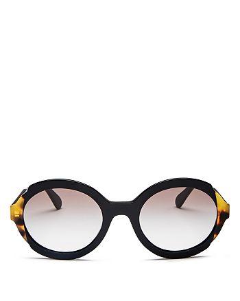 Prada - Women's Ettiquette Round Sunglasses, 53mm