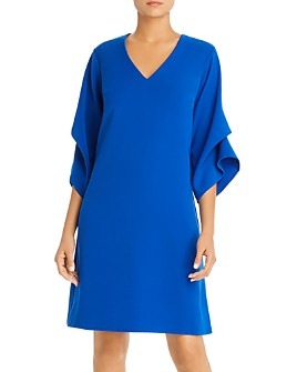 SNIDER - Royal Ruched-Sleeve Dress