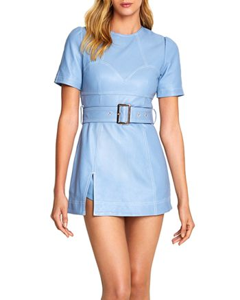 Alice McCall - Incantations Belted Leather Mini Dress