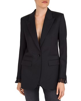 The Kooples - Lace-Trimmed Wool Blazer