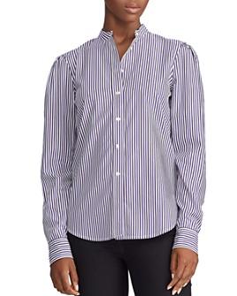 Ralph Lauren - Cotton Striped Puff-Shoulder Shirt