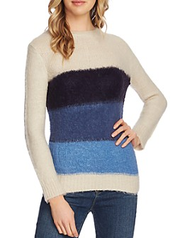 VINCE CAMUTO - Striped Crewneck Sweater