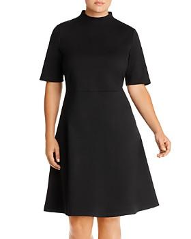 AQUA Curve - Mock-Neck Dress - 100% Exclusive