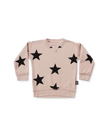 NUNUNU - Girls' Star Print Sweatshirt - Little Kid
