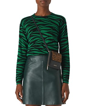 Whistles - Tiger Print Crewneck Sweater