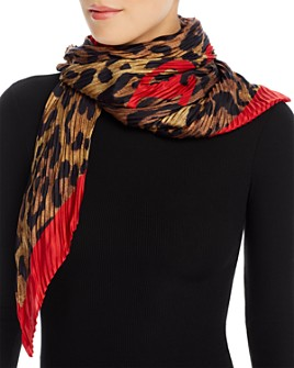 Polo Ralph Lauren - Plissé Leopard Print Silk Scarf