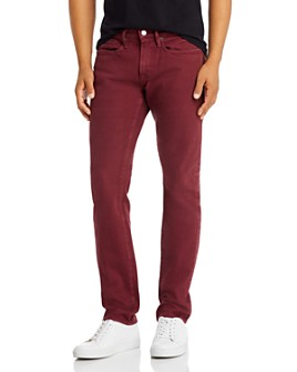 FRAME - L'Homme Slim Fit Jeans in Burgundy