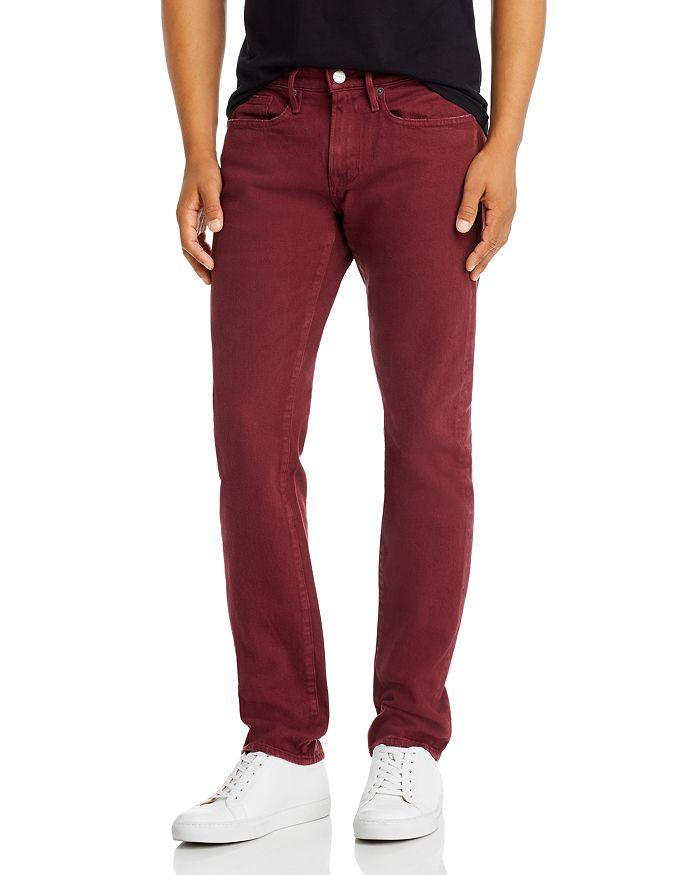 FRAME - L'Homme Slim Fit Jeans in Burgundy