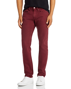 Frame Jeans L'HOMME SLIM FIT JEANS IN BURGUNDY