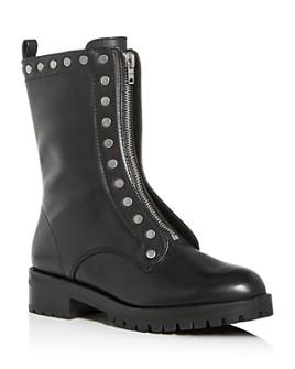 COACH - Women's Lara Studded Zip-Up Boots