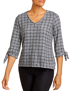 Vince Camuto Boucle Tie-Cuff Top-Women