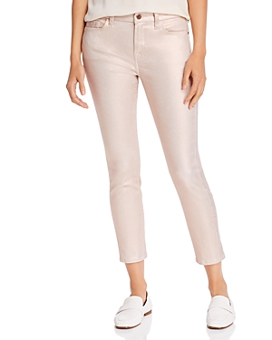 7 For All Mankind Jen7 By  Skinny Ankle Jeans In Rose Gold