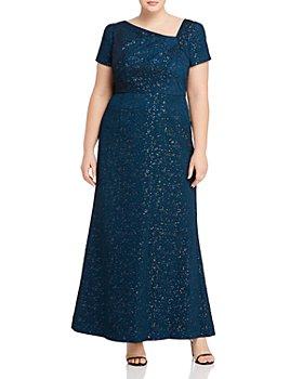 Adrianna Papell Plus - Metallic Jacquard Gown