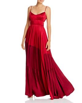 Amur - Tiered & Pleated Silk Dress