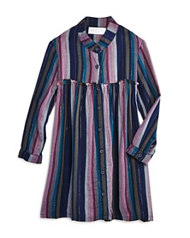 Bella Dahl - Girls' Striped Button Front Dress - Little Kid, Big Kid
