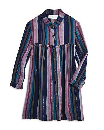 Bella Dahl - Girls' Striped Button Front Dress - Little Kid, Big Kid