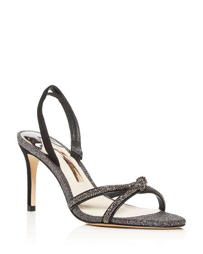 Sophia Webster - Women's Giovanna Crystal-Embellished Glitter Slingback Sandals
