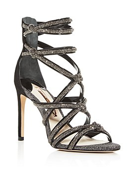 Sophia Webster - Women's Giovanna Strappy Crystal-Embellished Glitter Sandals