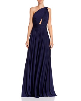 Jill Jill Stuart - Pleated One-Shoulder Gown