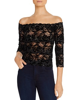 GUESS - Kristy Lace Off-the-Shoulder Top