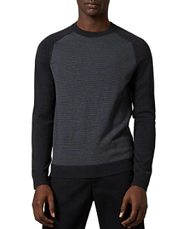 Ted Baker - Topup Long-Sleeve Striped Crewneck Sweater