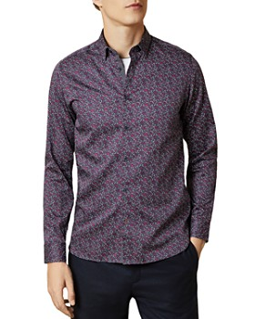 Ted Baker - Thundar Micro Floral Print Slim Fit Button-Down Shirt