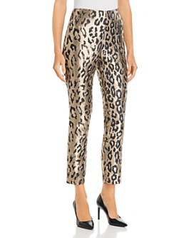 VINCE CAMUTO - Leopard Jacquard Ankle Pants