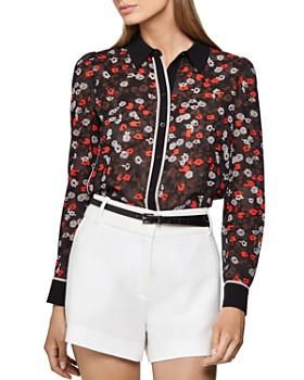 REISS - Poppy Floral Print Blouse