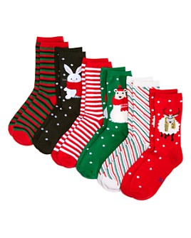 HUE - Socking Stuffer Crew Sock 6-Pack Holiday Box - 100% Exclusive