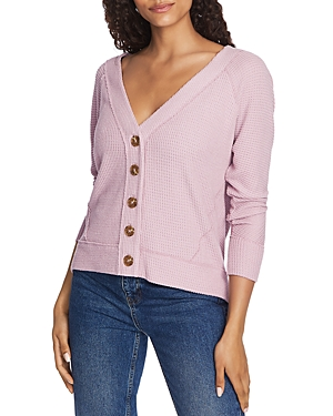 1.state Sweaters BUTTON-FRONT POINTELLE SWEATER