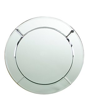 """Jay Imports - """"Glass Mirror"""" Round Charger"""