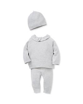 Little Me - Girls' Honeycomb Knit Sweater, Pants & Hat Set - Baby