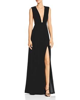 SAU LEE - Velvet Plunge Gown